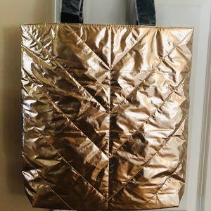 Victoria's Secret Bags - Victoria's Secret Foil Tote Bag Rose Gold